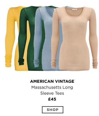 American Vintage - Massachusetts Long Sleeve Tees